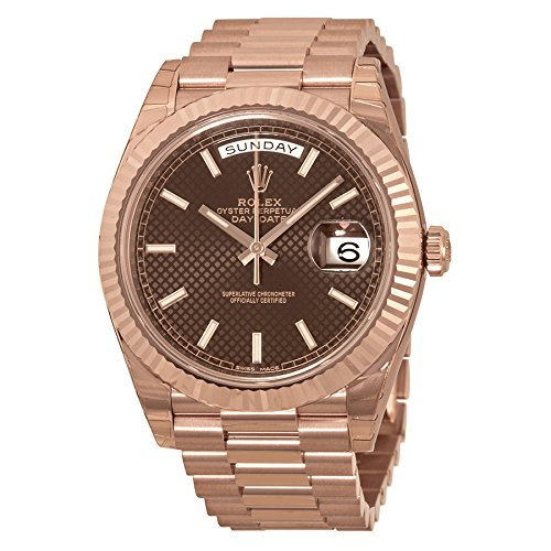 Rolex Day-Date 40 Chocolate Dial 18kt Everose Gold Automatic Mens Watch 228235CHSP