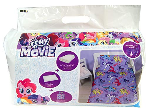 Cartoon Characters Brands :Junior Bed Set,4 Piece Bedding Bundle Quilt,Pillow Pillowcase,Duvet Cover (My Little - Pony Set Crib