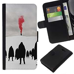 All Phone Most Case / Oferta Especial Cáscara Funda de cuero Monedero Cubierta de proteccion Caso / Wallet Case for Sony Xperia M2 // Red Blood Metal Goth Winter Dark