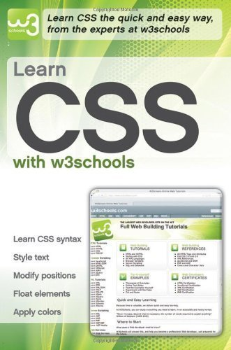 Learn Css With W3schools By W3schools Published By John Wiley   Sons  2010