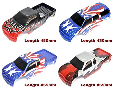 Part & Accessories 1/8TH RC Truggy car shell PC body Truck Karosserie for HPI Savage X/Savage SS/T T-MAXX/E-MAXX HPI4.6 5.9 - (Color: 430mm blue)