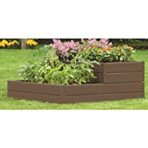 Suncast RBD939 48-Inch by 48-Inch by 18-Inch 6 Panel Tiered Resin Raised Garden Kit