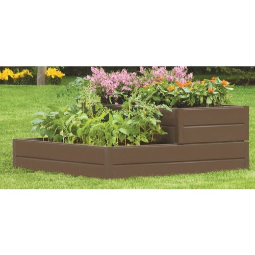 Suncast 48-Inch by 48-Inch by 18-Inch 6 Panel Tiered Resin Raised Garden Kit