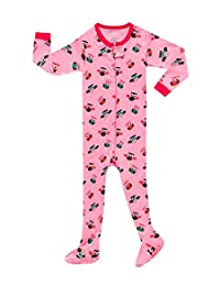 Family Feeling Little Baby Girls Footed Pajama Sleeper 100% Cotton Pjs Size 6M-5T