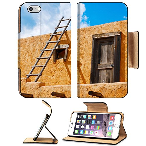 Liili Premium Apple iPhone 6 Plus iPhone 6S Plus Flip Pu Leather Wallet Case iPhone6 Plus Ladder on a Southwest style stucco building in New Mexico Photo 5582368 Simple Snap Carrying