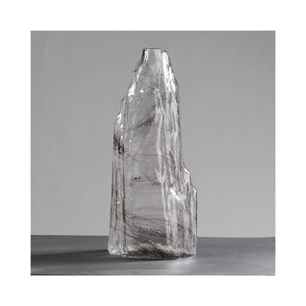 ガラス花瓶クリエイティブ透明花瓶リビングルームテーブルホームベッドルーム手作り装飾 (Edition : B) B07T4M2GV4  B