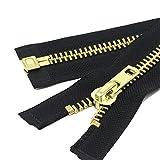 YaHoGa #10 30 Inch Brass Separating Jacket Zipper