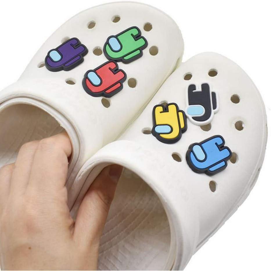 11Pcs Among Us Garden Shoe Charms Decoration,Cute DIY Unisex Hole Clogs Shoe PVC Fun Clog Charm for Crocs