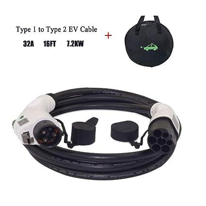 K.H.O.N.S. EV Cable de Carga para Vehículos Eléctricos Tipo 1 a ...