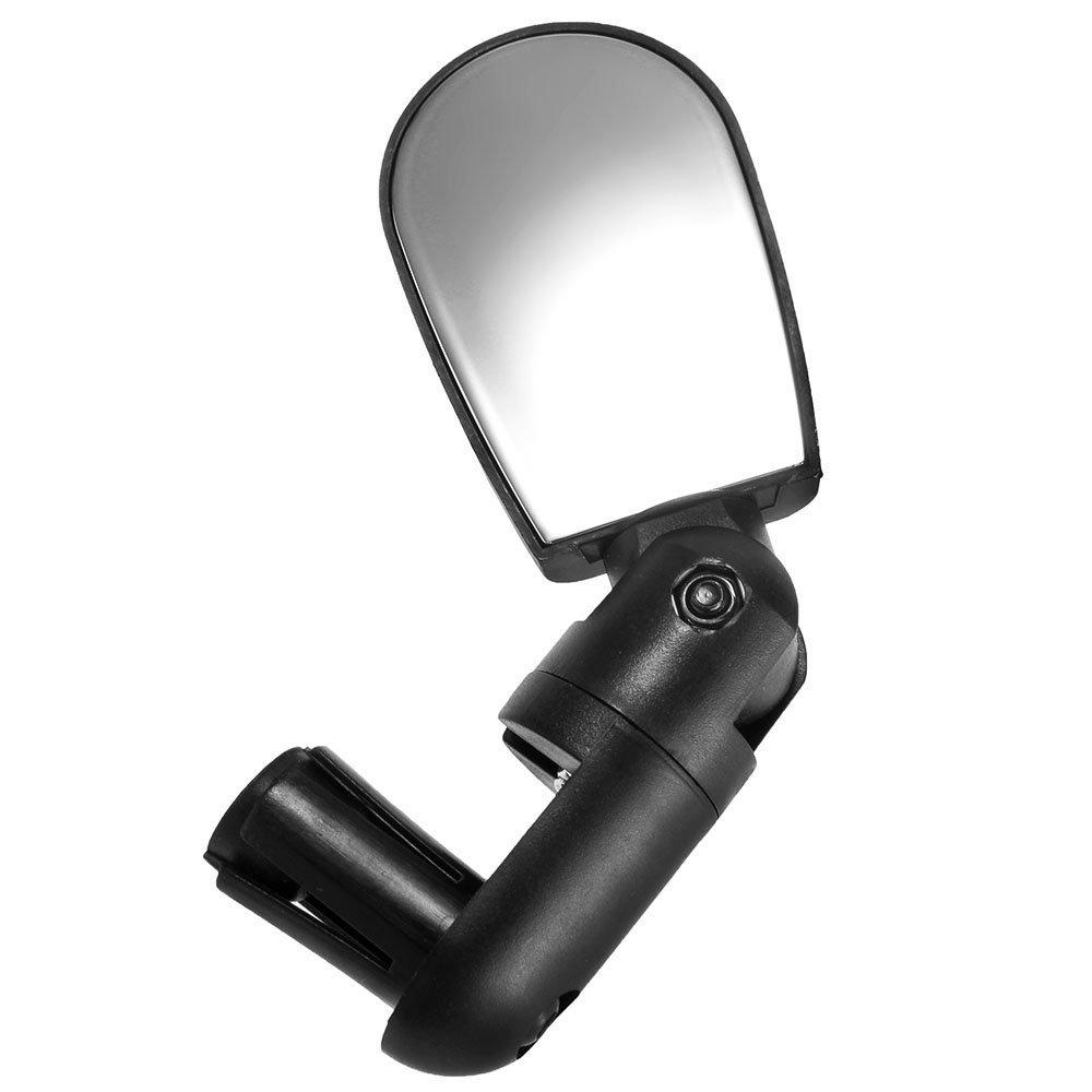 TOOGOO(R) Espejo de Retrovisor Espejo Ajustable para Manillar de Bicicleta Negro