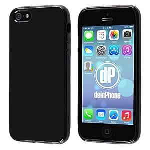 Diseño iPhone 5/5S con carcasa de silicona negro