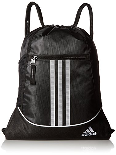 Soccer Gym Bag - adidas Alliance II Sackpack, Black/White, One Size