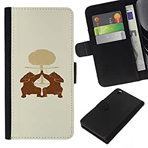 Leather Etui en cuir || HTC DESIRE 816 || Oso High Five @XPTECH