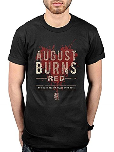August Burns Red Hearts Filled T-Shirt Black Size L