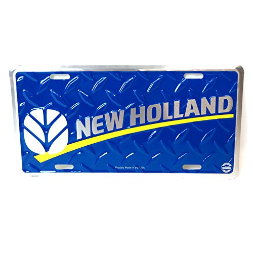 New Holland Logo Blue License Plate from New Holland