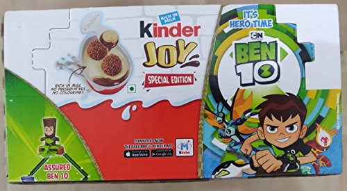 Mickey Mouse Candy Bar - Kinder Joy Egg Ben 10 Toy Series Easter Egg Surprise Toy Choose Box of 16 Fast Shipping For USA (Box of 16 Eggs)