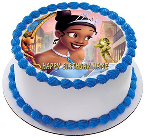 THE PRINCESS AND THE FROG Edible Cake OR Cupcake Topper - 7.5' round inches