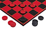 Point Games Checkers Game with Super Durable Board - Draughts (Checkers) Have Stackable Grooves To Secure The King- Indoor/Outdoor Fun Board Game for All Ages
