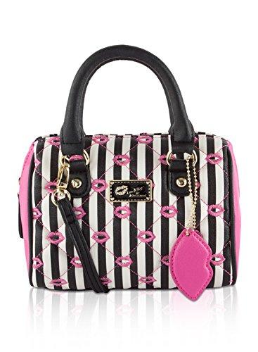 betsey-johnson-harlie-mini-satchel-crossbody-bag-fuchsia-black-kisses