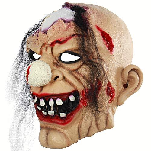 (BESTOYARD Halloween Cosplay Mask Horrific Mask Creepy Terrifying Bloody Zombie Clown)