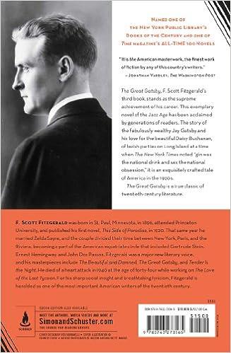 The Great Gatsby: F. Scott Fitzgerald: 9780743273565: Amazon.com ...
