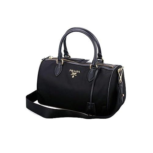 32ccc6e99f3e74 Prada Women's Black Baguettes Nylon Handbag 1BB797: Amazon.ca: Shoes &  Handbags