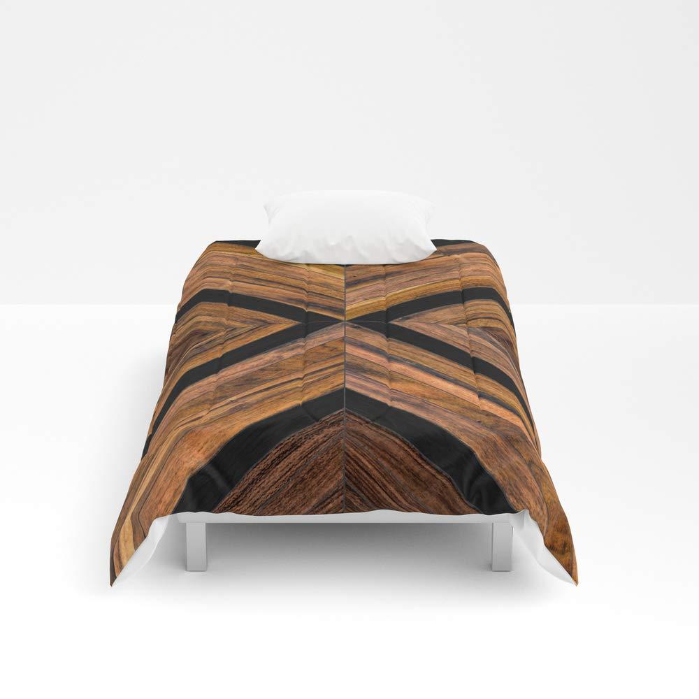 Society6 Comforter, Size Twin XL: 68'' x 92'', Urban Tribal Pattern 3 - Wood by zoltanratko