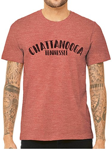 Tennessee Red Clay - City of Chattanooga Tennessee Short Sleeve Triblend Unisex T-Shirt (Clay Red, X-Small)