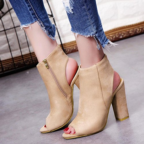 Toe Gladiator High Closed Sandals for Beige Color Club VEMOW Sparkly Work Office Wedges Footwear Utility Suede Solid for Platform Heels Toe Court Roman Party Shoes Peep Women 8wqvzq