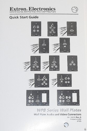 Extron Electronics Quick Start Guide for WPB Series Wall Plates (Wall Plate Audio and Video Connectors