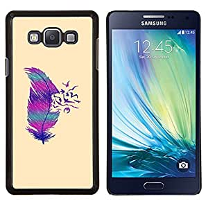 Eason Shop / Premium SLIM PC / Aliminium Casa Carcasa Funda Case Bandera Cover - Pájaros profundo minimalista - For Samsung Galaxy A7 ( A7000 )