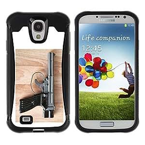LASTONE PHONE CASE / Suave Silicona Caso Carcasa de Caucho Funda para Samsung Galaxy S4 I9500 / pistoletnyy kompleks