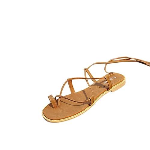Schuhe Damen Sommer Flach Sandalen DOLDOA Strand