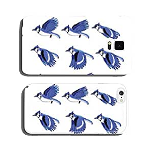 Blue Jay Bird Flying Animation Sprite cell phone cover case iPhone6 Plus