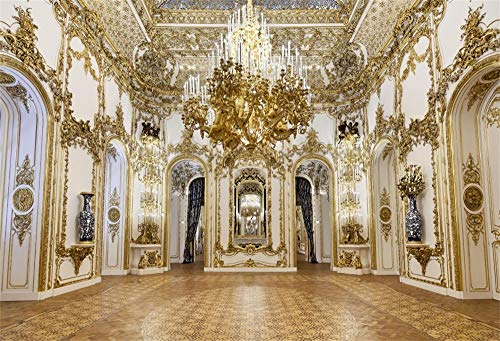 Yeele 10x8ft Luxurious Palace Backdrop for Photography Chandelier Arch Door Noble Hotel Background Kids Adult Photo Booth Shoot Vinyl Studio Props
