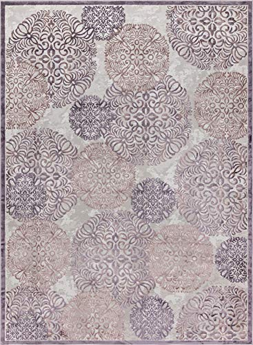 - Unique Loom Aberdeen Collection Traditional Tone-on-Tone Textured Vintage Violet Area Rug (10' 4 x 14' 0)