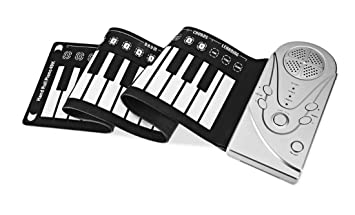 Portátil 49 Llaves Rueda Para Arriba Flexible Suave Piano Del Teclado Plegable Electronic Piano Instrumentos Musicales,Adecuado Para Niños Principiantes.