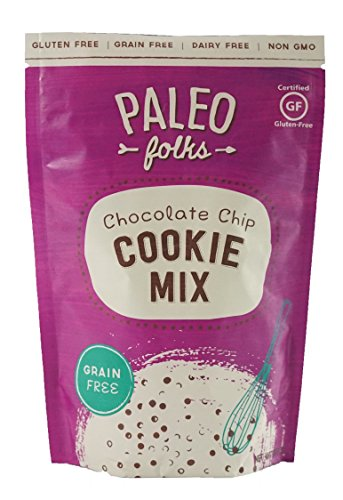 Paleo Folks Chocolate Chip Cookies Low Carb Baking Mix - Perfect Dairy free, Grain Free, Gluten free, Soy free, Refined Sugar Free, & Low Carb Snacks - Made With Organic Ingredients non GMO 246 Gr (Chocolate Sugar Free Cookie Mix)
