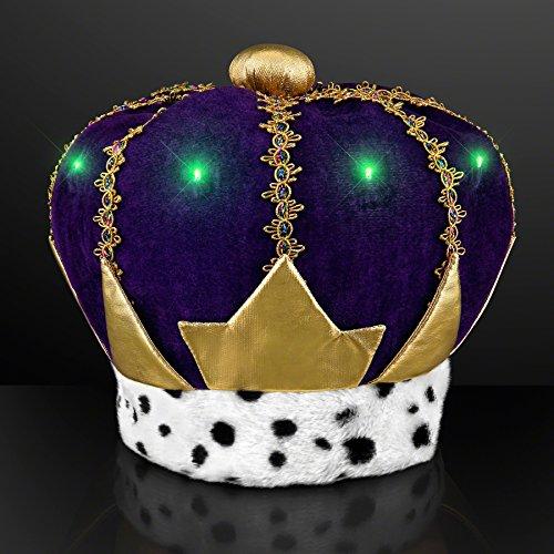 Mardi Gras Crowns (FlashingBlinkyLights Light Up Mardi Gras King Crown)