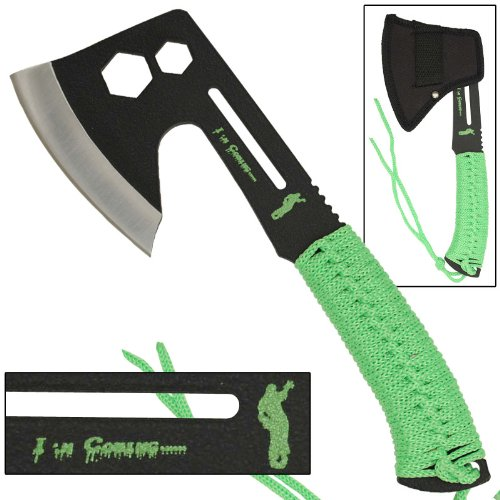 Zombie Killer Danger Coming Multifunction Hatchet by Armory Replicas