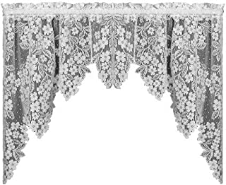 product image for Heritage Lace Dogwood 70-Inch by 38-Inch Drop Ecru Swag Pair