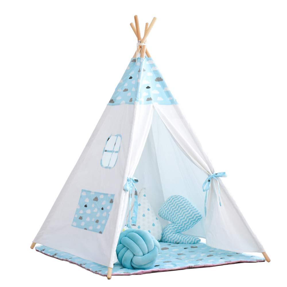 SIER Kinder Zelt spielhaus Lesung Ecke Junge Baby Indoor Spielzeug mädchen Farbe Prinzessin Zimmer 160  120 cm,Blau Blau