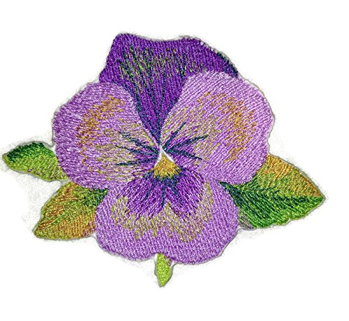 (BeyondVision Custom and Unique Garden's Best Delight Flower [Pansy ] Embroidered Iron on/Sew Patch [3.5
