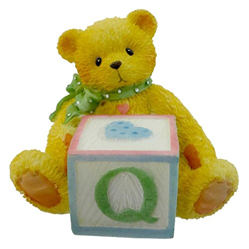 Cherished Teddies BEAR WITH ABC BLOCK Resin Teddy Bear Miniature Block 158488 Q ()