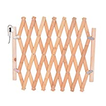"""URIJK Expanding Swing Gate Dog Fence Indoor Dog Wooden Safety Screen Gate Pet Protection Room Divider , 19"""" Tall x 43"""" Wide"""