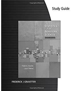 Amazon statistics for the behavioral sciences available study guide for gravetterwallnaus statistics for the behavioral sciences 8th fandeluxe Image collections