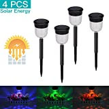 lychee Outdoor Solar Garden Lights, Led Solar Torch Light Light Control, Solar Powered 7 Colors Changing Effect Light, Outdoor Landscape Decoration Path Lighting, Auto On/Off, IP65 Waterproof,4Packs Review