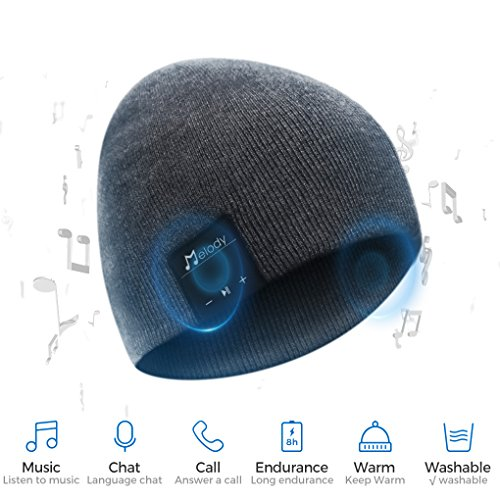 Bluetooth Beanie Hat, BCELIFE Wireless 4.0 Hands-Free Knit Music Cap with HD Stereo Speaker Headphone Mic Rechargeable…