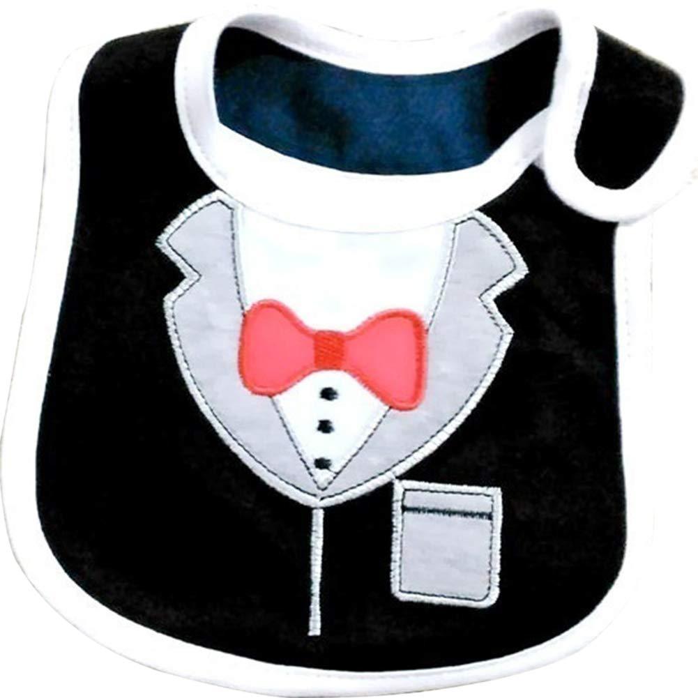 LAPUTA Direct Baby Bibs Cute Bowtie Formal Suit Pattern Toddler Boys Waterproof Saliva Towel