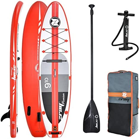 Z-Ray A1 9 10 Inflatable Touring Stand Up Paddleboard with Accessories